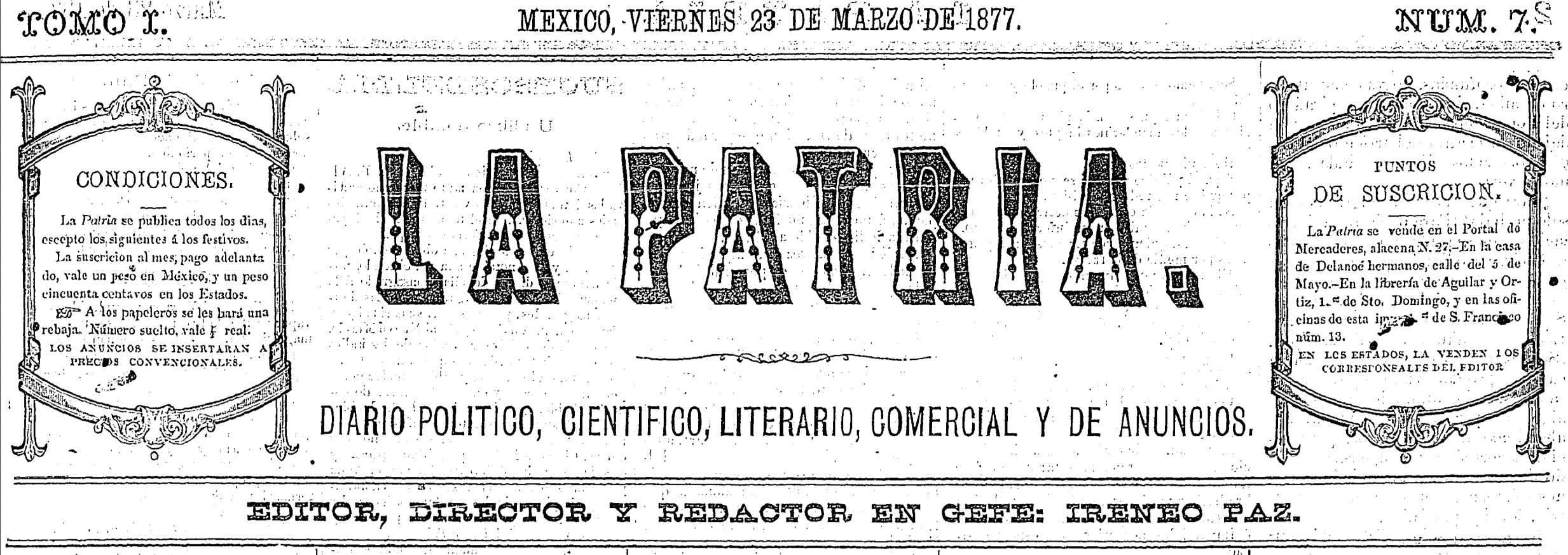 Obras completas de Ireneo Paz. Parte III: Obra periodística