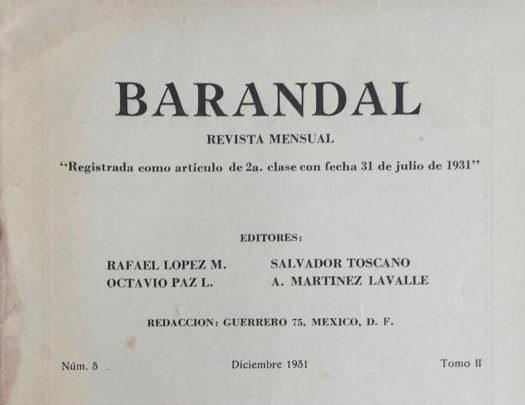 <p><em>Barandal</em> Revista mensual.</p>